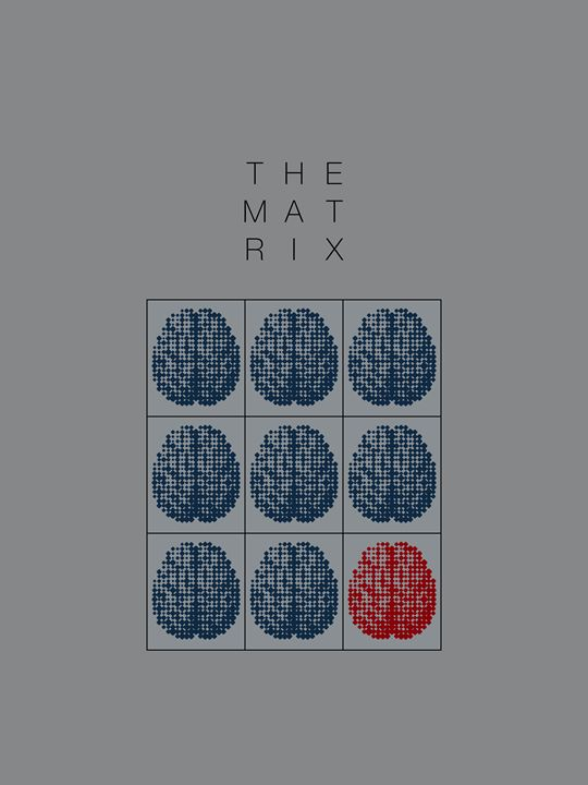 The Matrix Minimal Movie Poster - Attila Meszlenyi