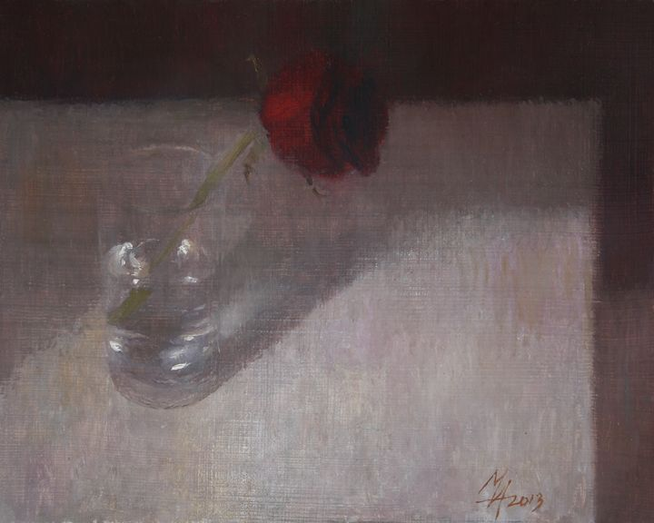 Rose in Glass - Attila Meszlenyi