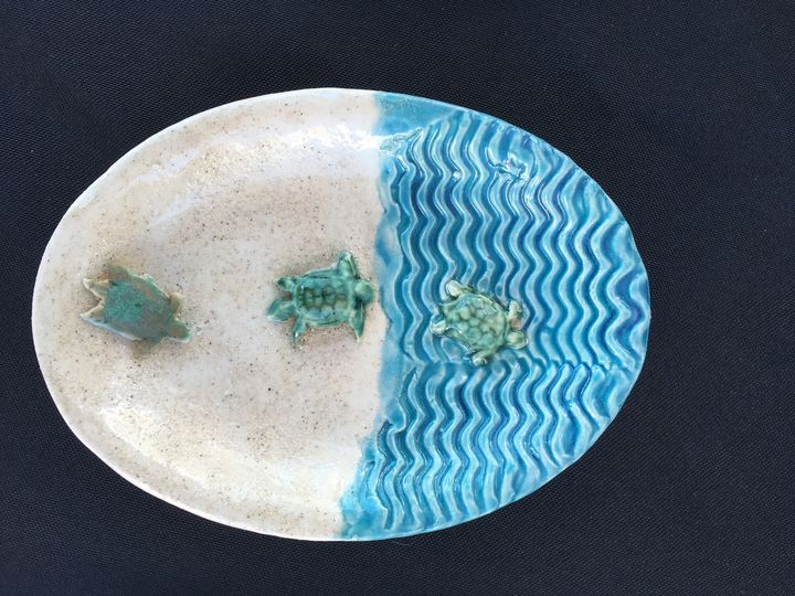 Soap dish Baby turtles - Potter's Wheel