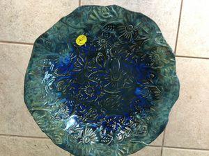 Indigo Textured Art Bowl Sold