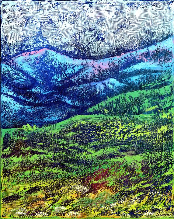 Evening in the Mountains - ArtGallery