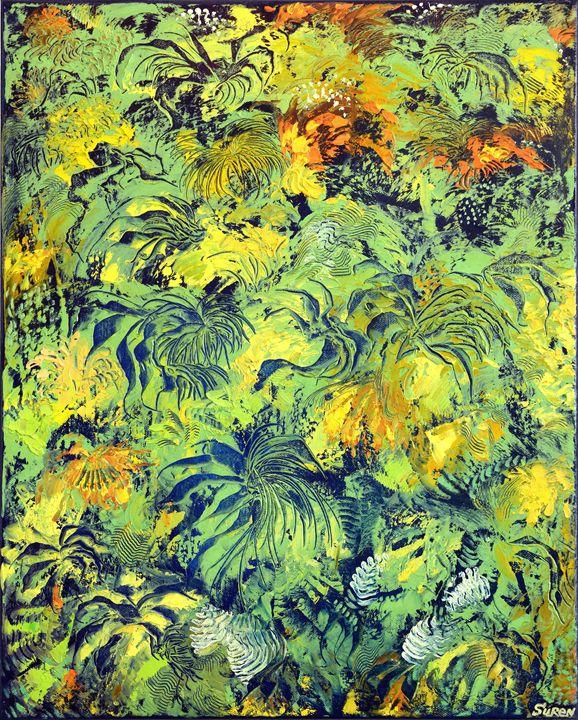 Green Motif - ArtGallery