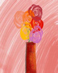 Flowers in a vase 1 - ArtatNavita's