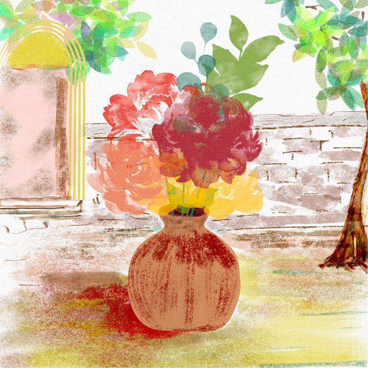 Vase in the yard - ArtatNavita's