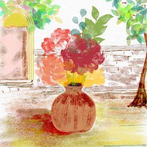Vase in the yard