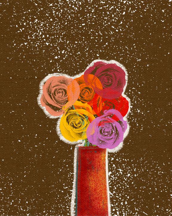 Roses in a vase 2 - ArtatNavita's
