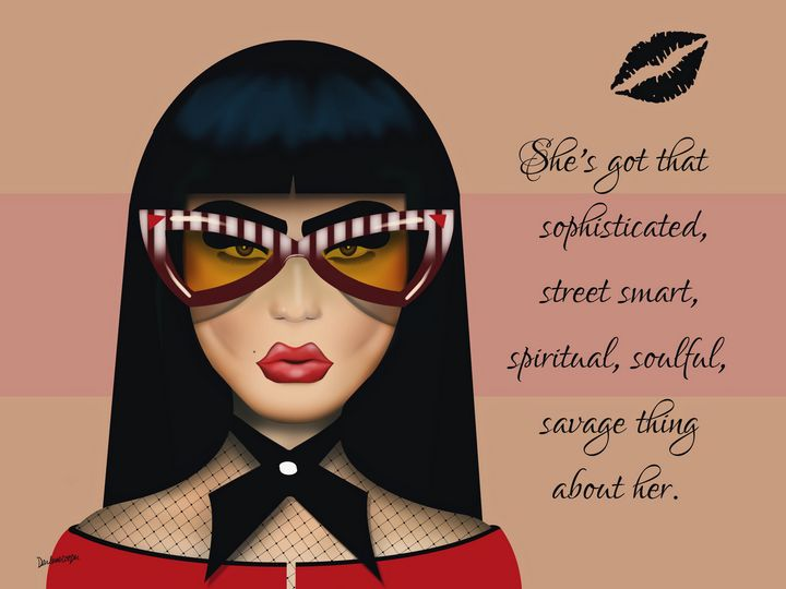 She's got that  . . . (pop art) - Tiphara Art