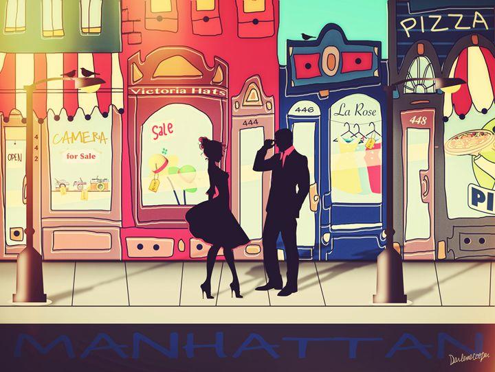 Somewhere in Manhattan - Tiphara Art