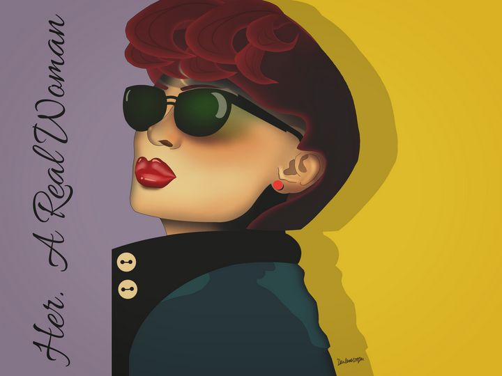 Her. A Real Woman Pop Art - Tiphara Art