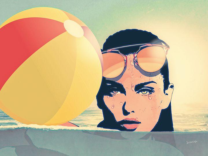 Beach Ball Life - Tiphara Art