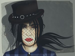 A Steampunk Girl (pop art)