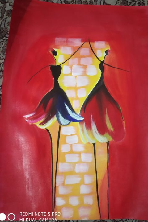 Latest acrylic abstract painting - Vishakha Handmade Works