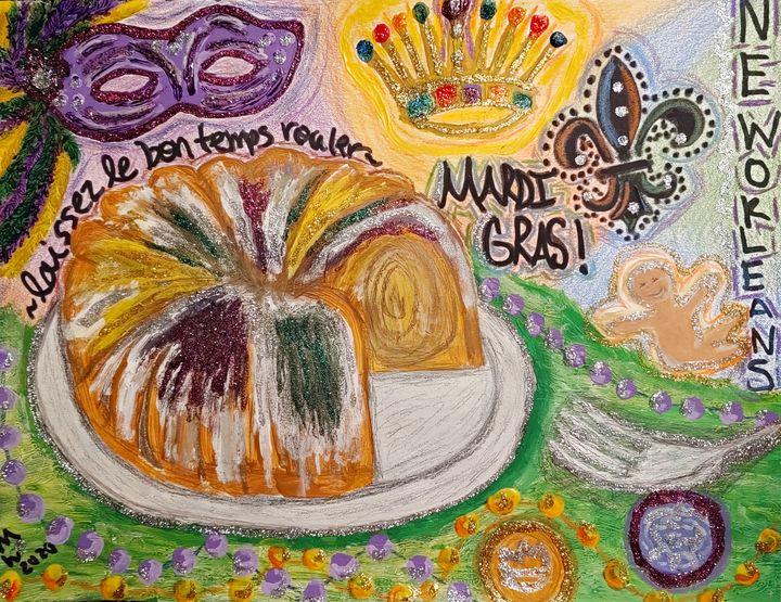 Mardi Gras King Cake - Mariemixx