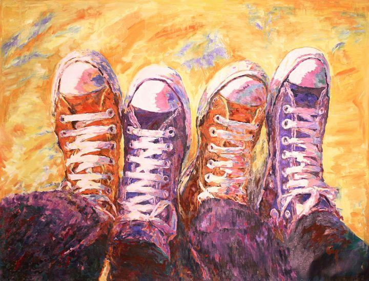 Sneakers and love. - Marat Cherny