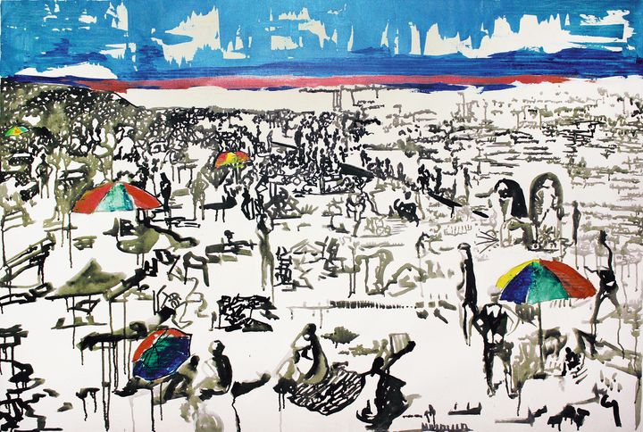 Beach-thousands of people . (2017) - Marat Cherny