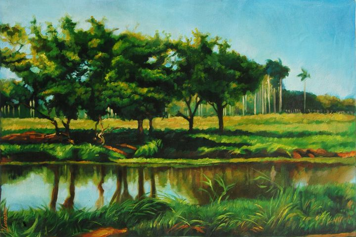 Cuban country landscape with river - Yoandy Carrazana