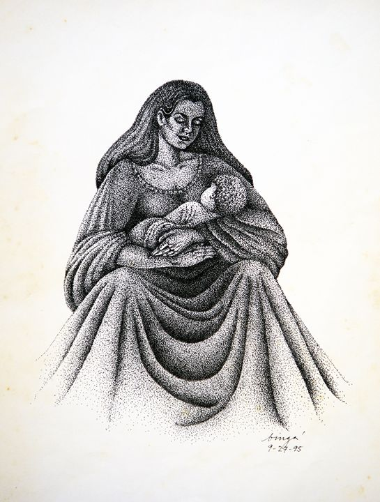"""Mag-Ina"" (Mother and Child) - Liz Aguilar"