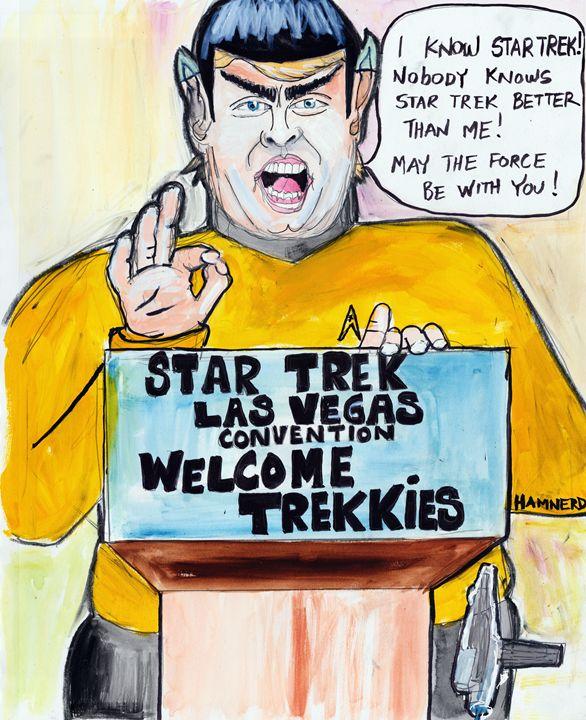 I Know Star Trek - Hamnerd Art