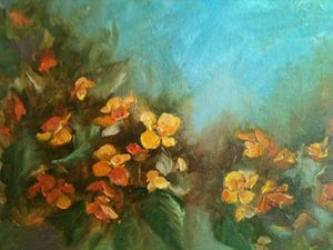 Mango Begonias - Art by Terrye Philley