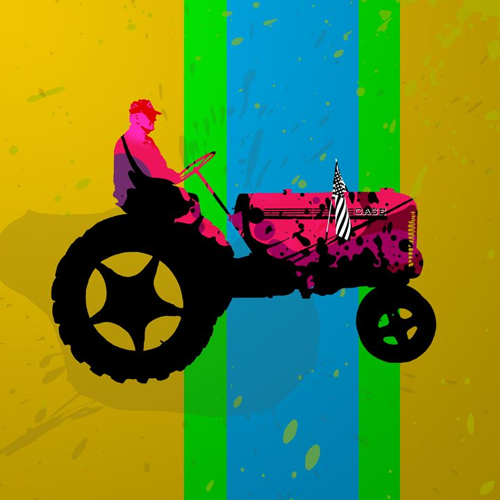 The Tractor in a Rural Parade - Random Art House