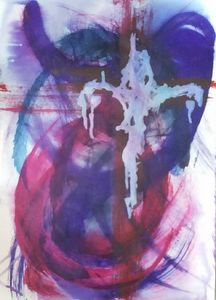 Figurative Abstract of Christ nos 1