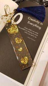 Glitter Heart Bookmark