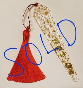 Golden Hearts Bookmark
