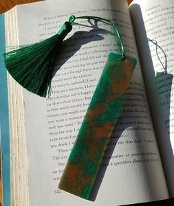 Emerald Green and Bronze Bookmark