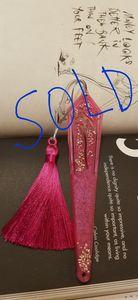Pearly Magenta Resin Bookmark