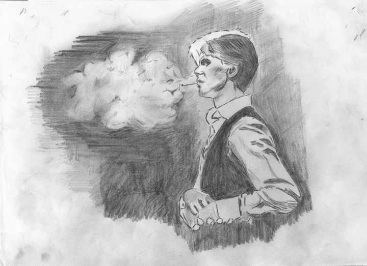 David Bowie Smoking - Rob Forster
