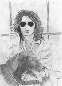 Jim Morrison and a Dog