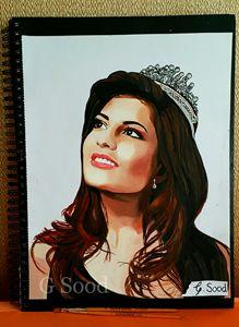 Jacqueline Fernandez oil painting