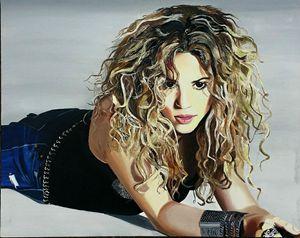 Shakira oil painting