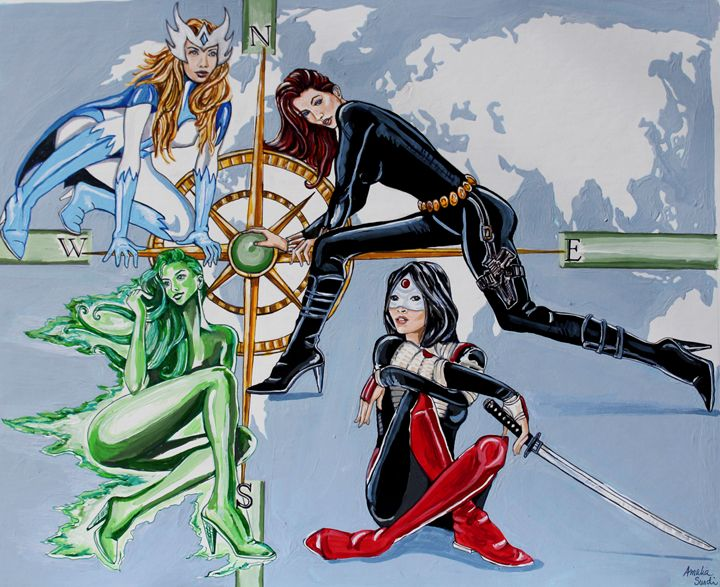 4 women of the globe - Amalia's Artwork