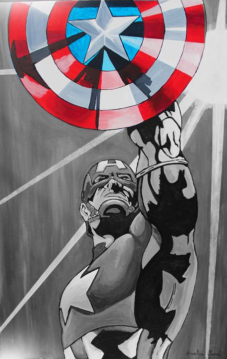 Captain America Old School - Amalia's Artwork