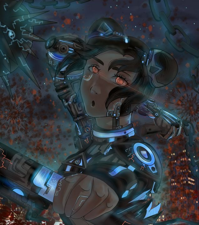 Cyberpunk Tenten,The wepons Mistress - Venom's Art Gallery