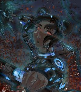 Cyberpunk Tenten,The wepons Mistress
