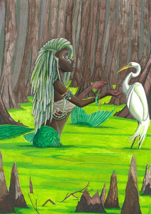 Siren of the Bayou - MC Squared Art