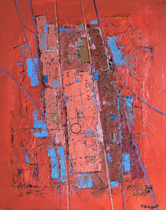 abstract in red - patrick sagot