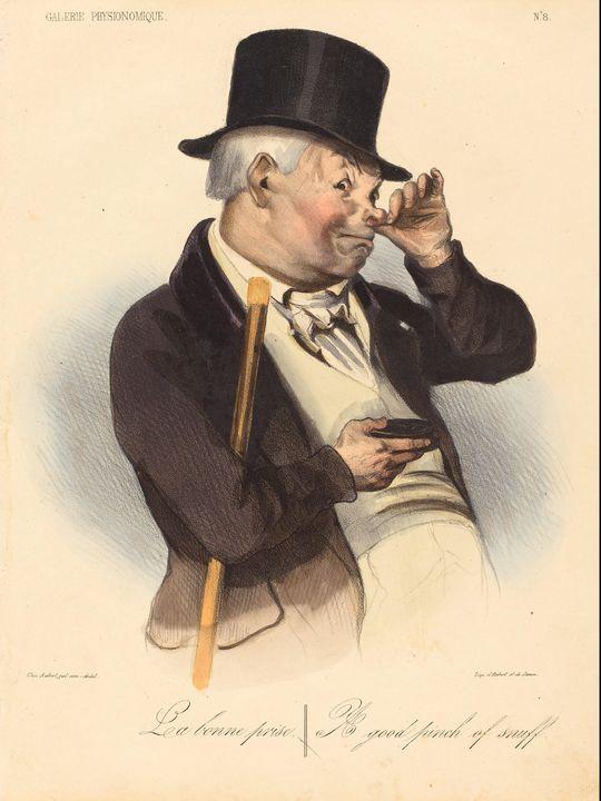 Honoré Daumier~La bonne prise - Classical art