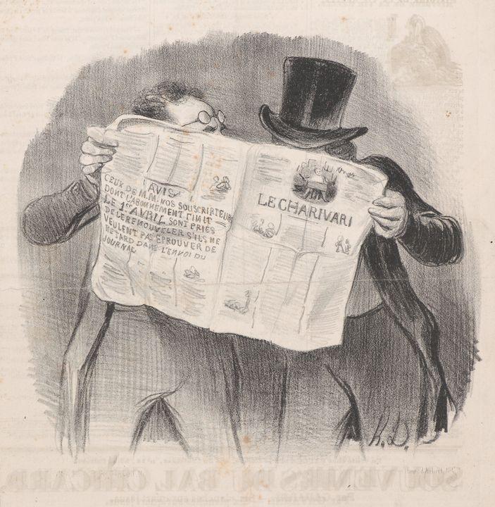 Honoré Daumier~La Lecture du Chariva - Classical art