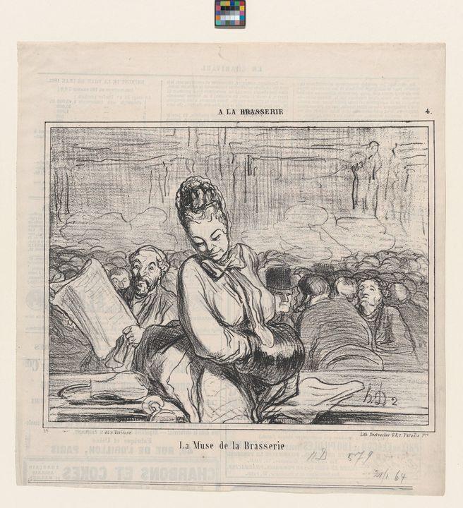 Honoré Daumier~La Muse de la Brasser - Classical art