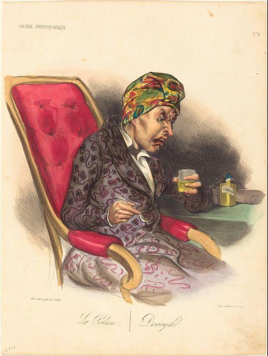 Honoré Daumier~La Potion - Classical art
