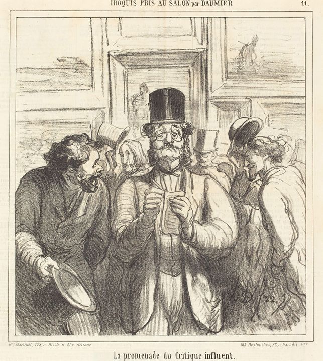 Honoré Daumier~La promenade du Criti - Classical art