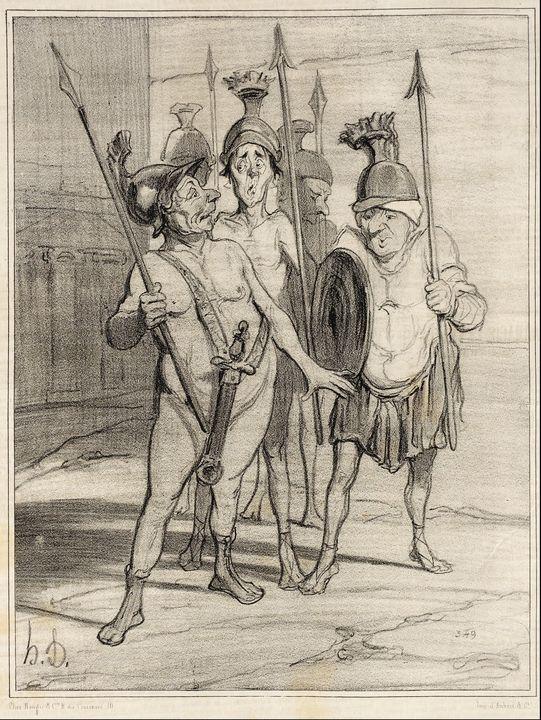 Honoré Daumier~La Veille des Thermop - Classical art