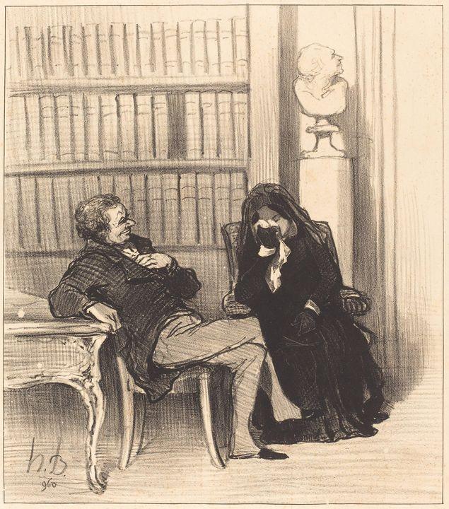 Honoré Daumier~La veuve - Classical art