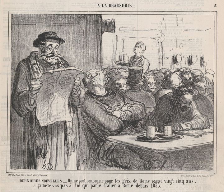 Honoré Daumier~Latest news, from 'In - Classical art