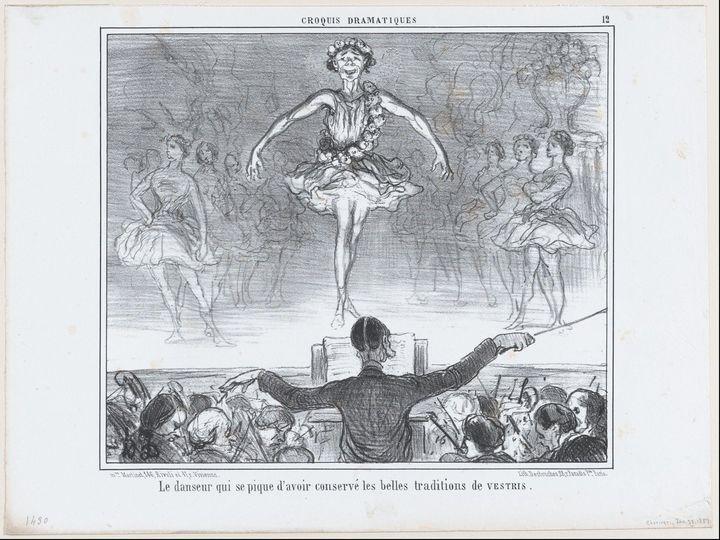 Honoré Daumier~Le danseur qui se piq - Classical art