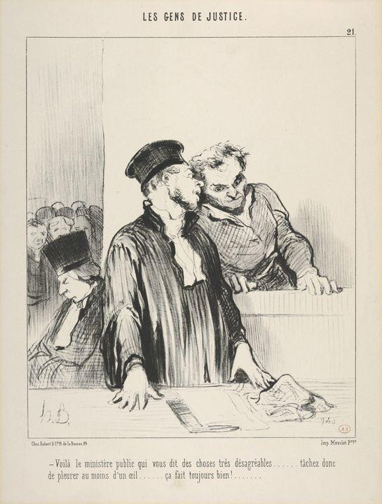 Honoré Daumier~Le Gens de Justice, P - Classical art