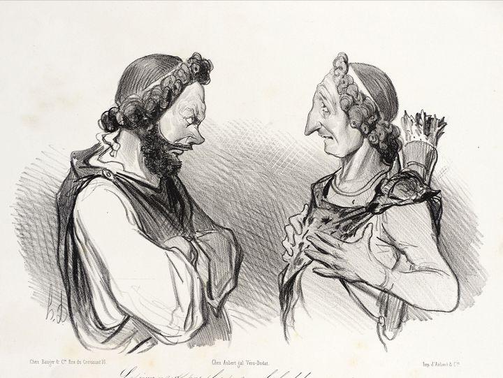 Honoré Daumier~Le Jour n'est pas plu - Classical art
